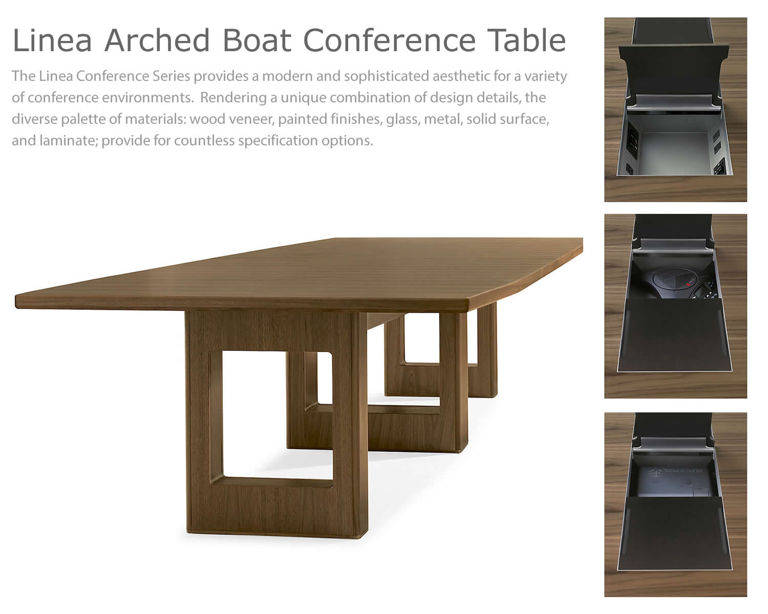 Linea Arched Boat Conference Table View Details